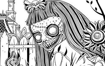 Alan Roberts Goregeously Gross Coloring Book  Previews World