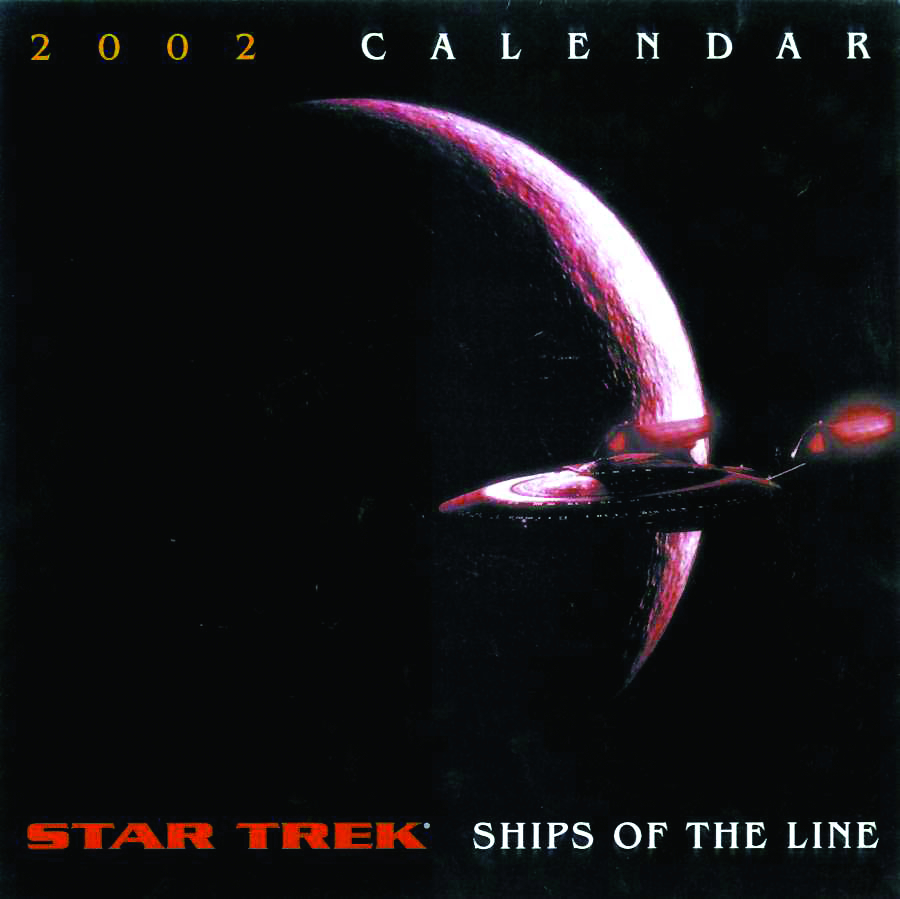 APR012684 - STAR TREK SHIPS OF THE LINE 2002 WALL CALENDAR