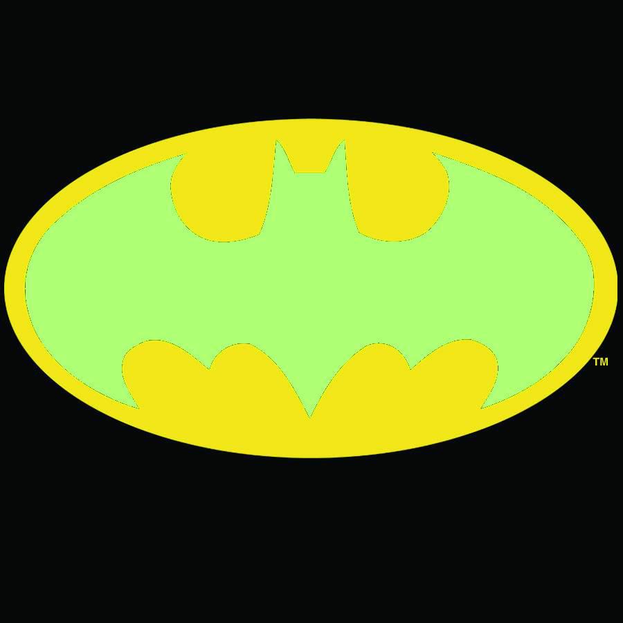 Jan084420 Batman Symbol Gitd Blk Ts Med Previews World