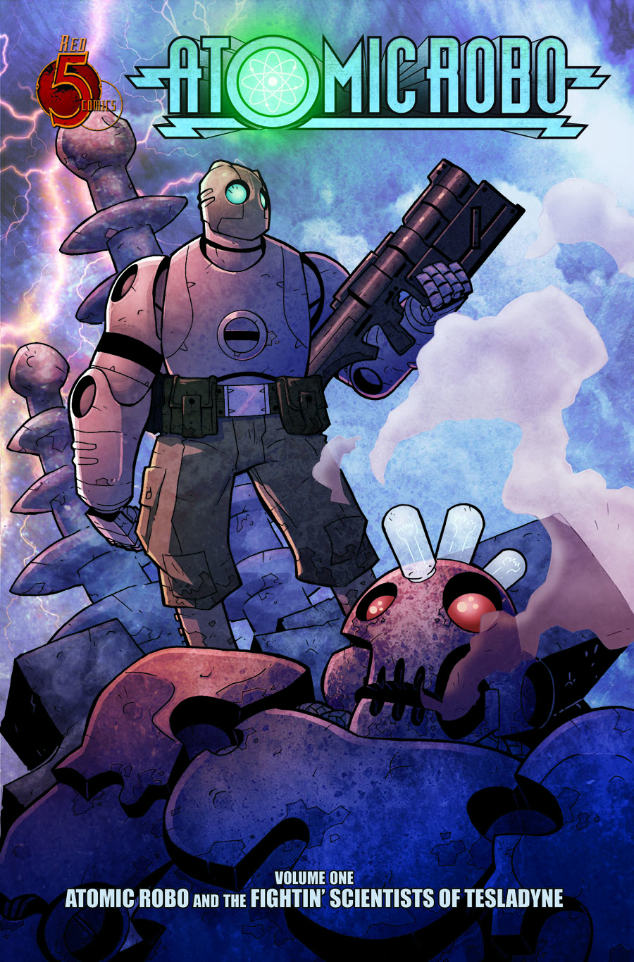 (USE OCT091063) ATOMIC ROBO TP VOL 01 FIGHTIN SCIENTISTS NEW