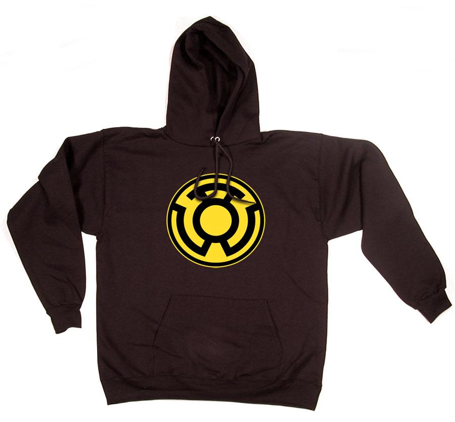 Oct084705 Sinestro Corps Symbol Blk Hoodie Lg Previews World
