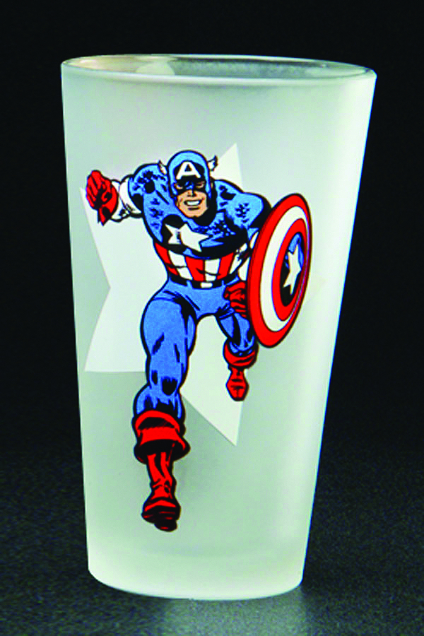 TOON TUMBLERS CAPT AMERICA CLEAR PINT GLASS