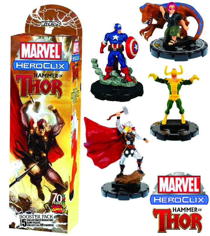MARVEL HEROCLIX HAMMER OF THOR BOOSTER PACK