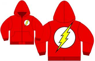 FLASH LOGO RED PX ZIP-UP HOODIE XL