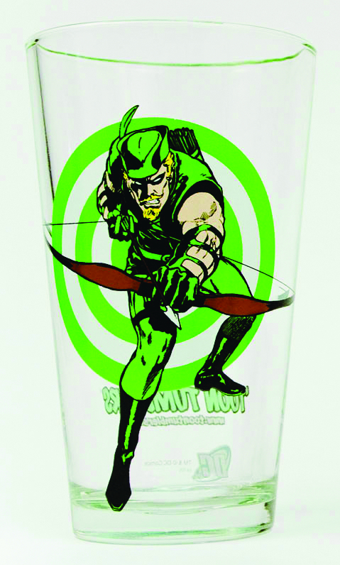 TOON TUMBLERS GREEN ARROW PINT GLASS