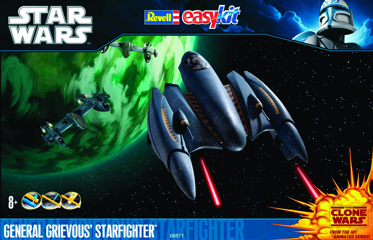 SW CW GENERAL GRIEVOUS STARFIGHTER SNAPTITE KIT