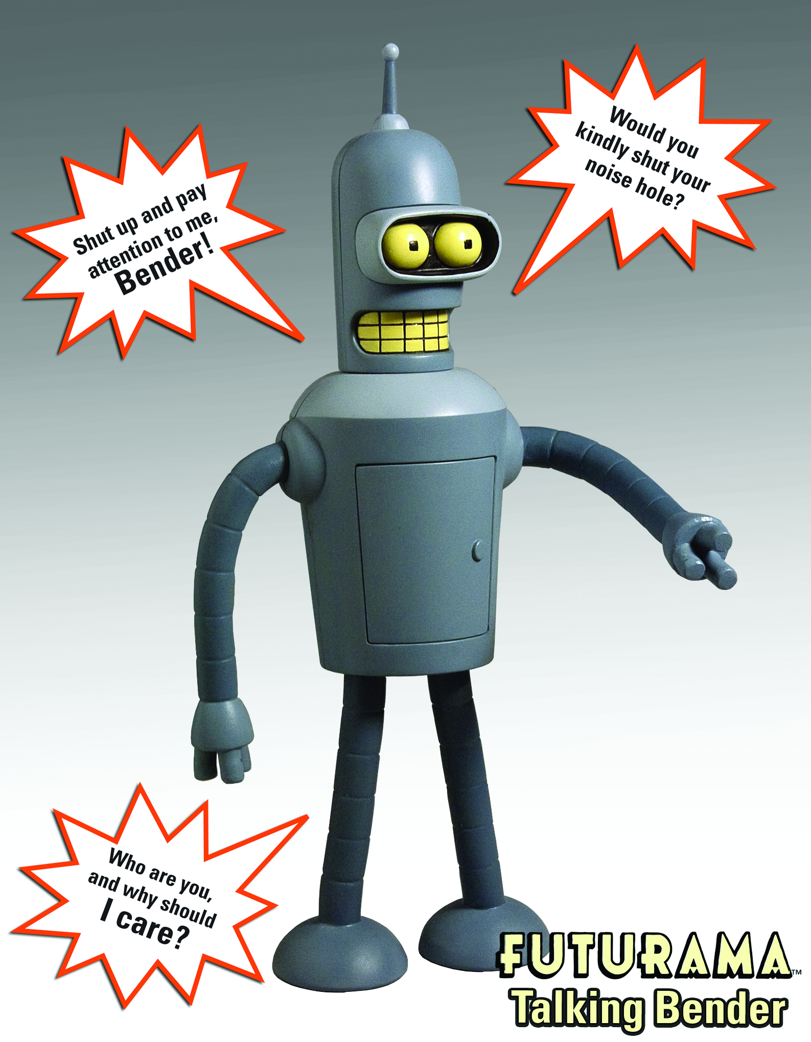 FUTURAMA TALKING BENDER FIGURE