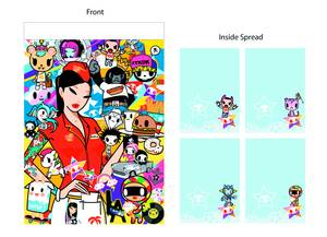 TOKIDOKI DINER WITH DINER BABIES NOTEPAD