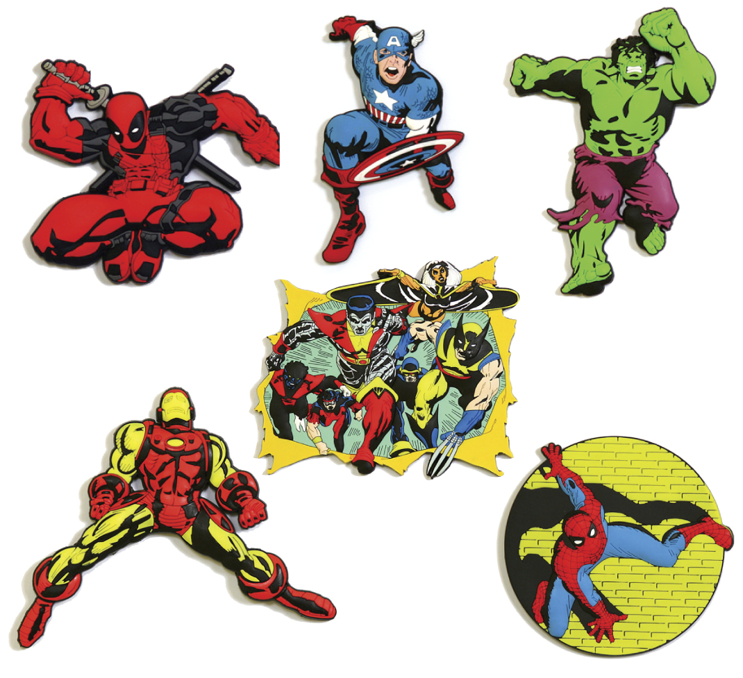 MARVEL MEGA MEGA MAGNETS 6PC SET