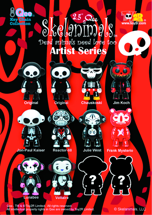 SKELANIMALS ARTIST SERIES 2.5IN QEE 25PC BMB DS