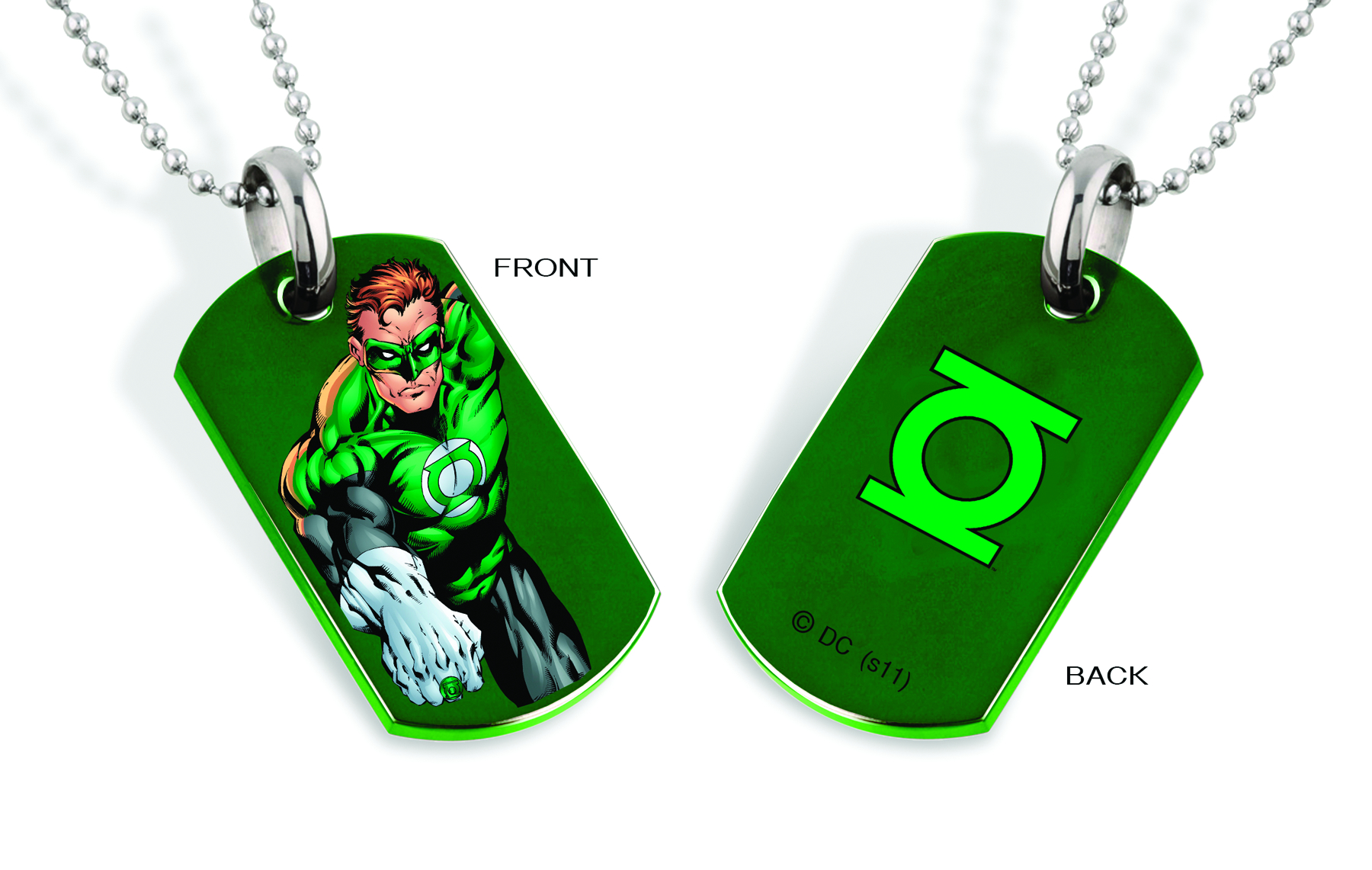 GREEN LANTERN ART DOG TAG