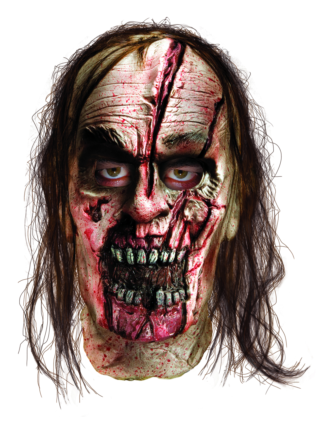 WALKING DEAD SPLIT HEAD ZOMBIE ADULT MASK