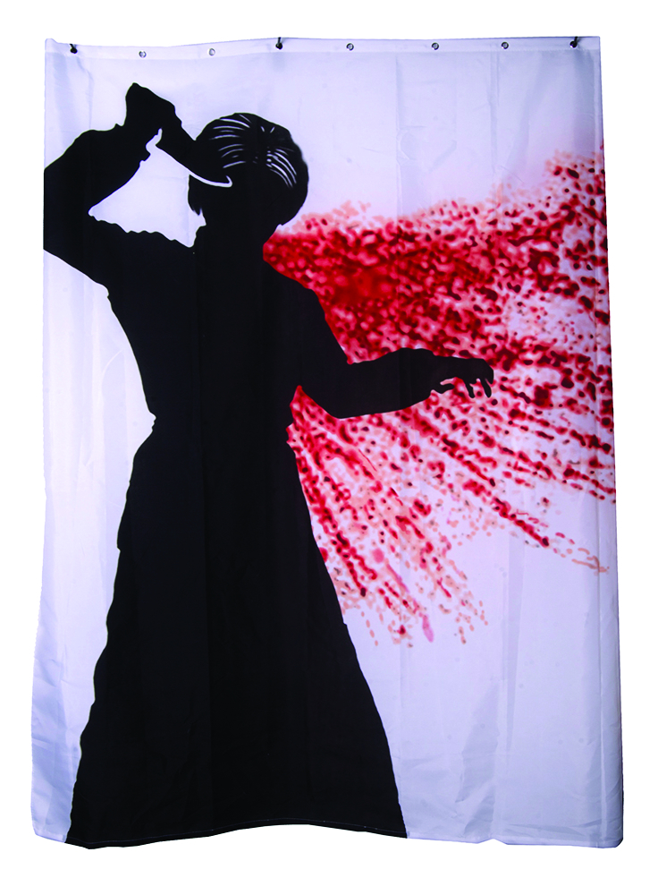 Psycho Shower Curtain W Audio Box