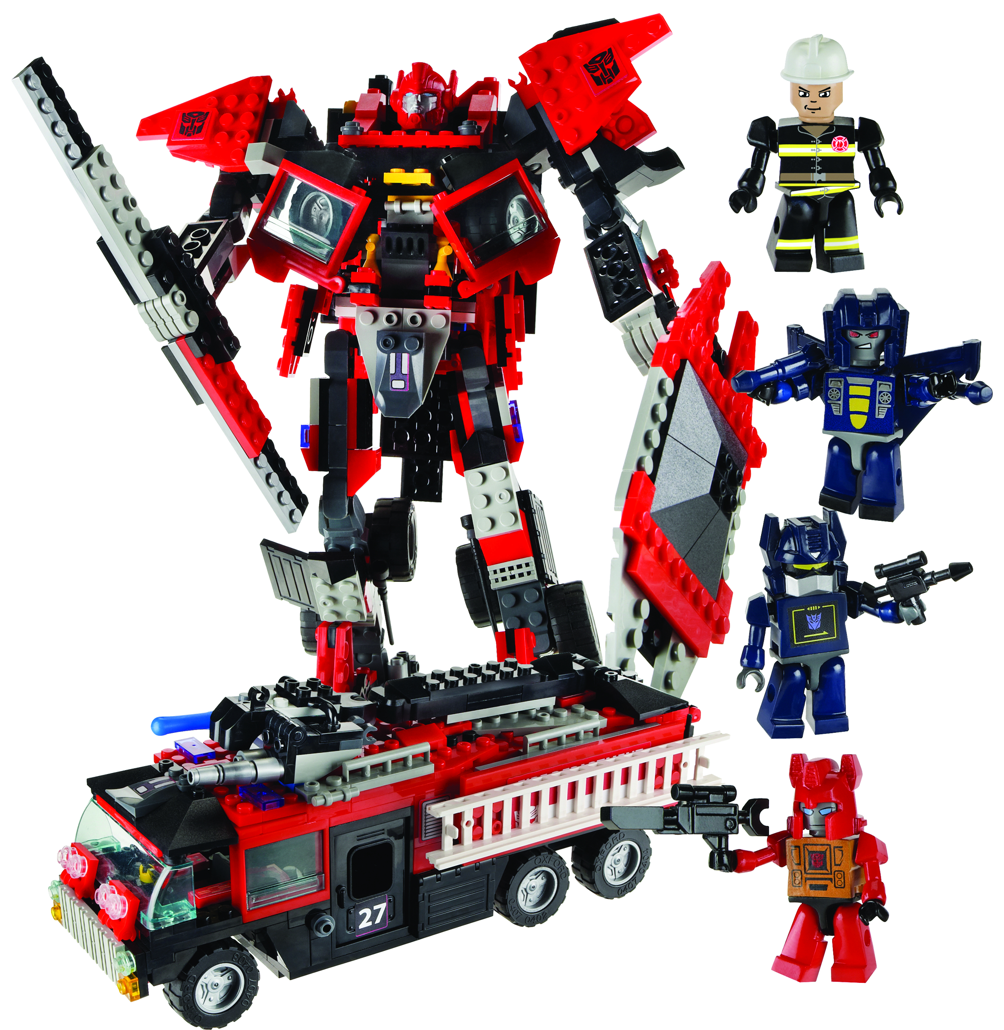 Lego Transformers Toys : Jul kre o transformers fire truck set previews world