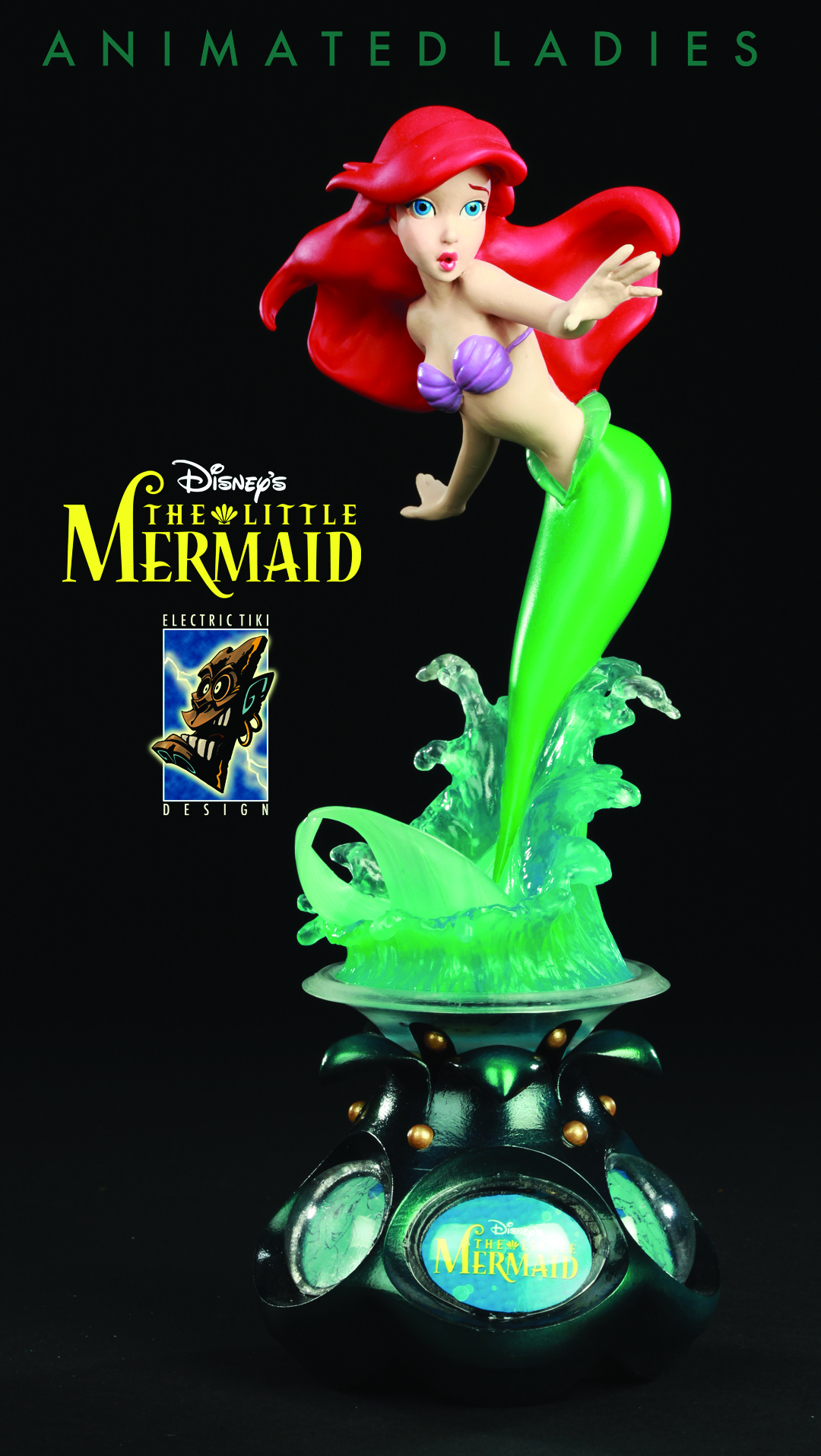 DISNEY ANIMATED LADIES ARIEL STATUE