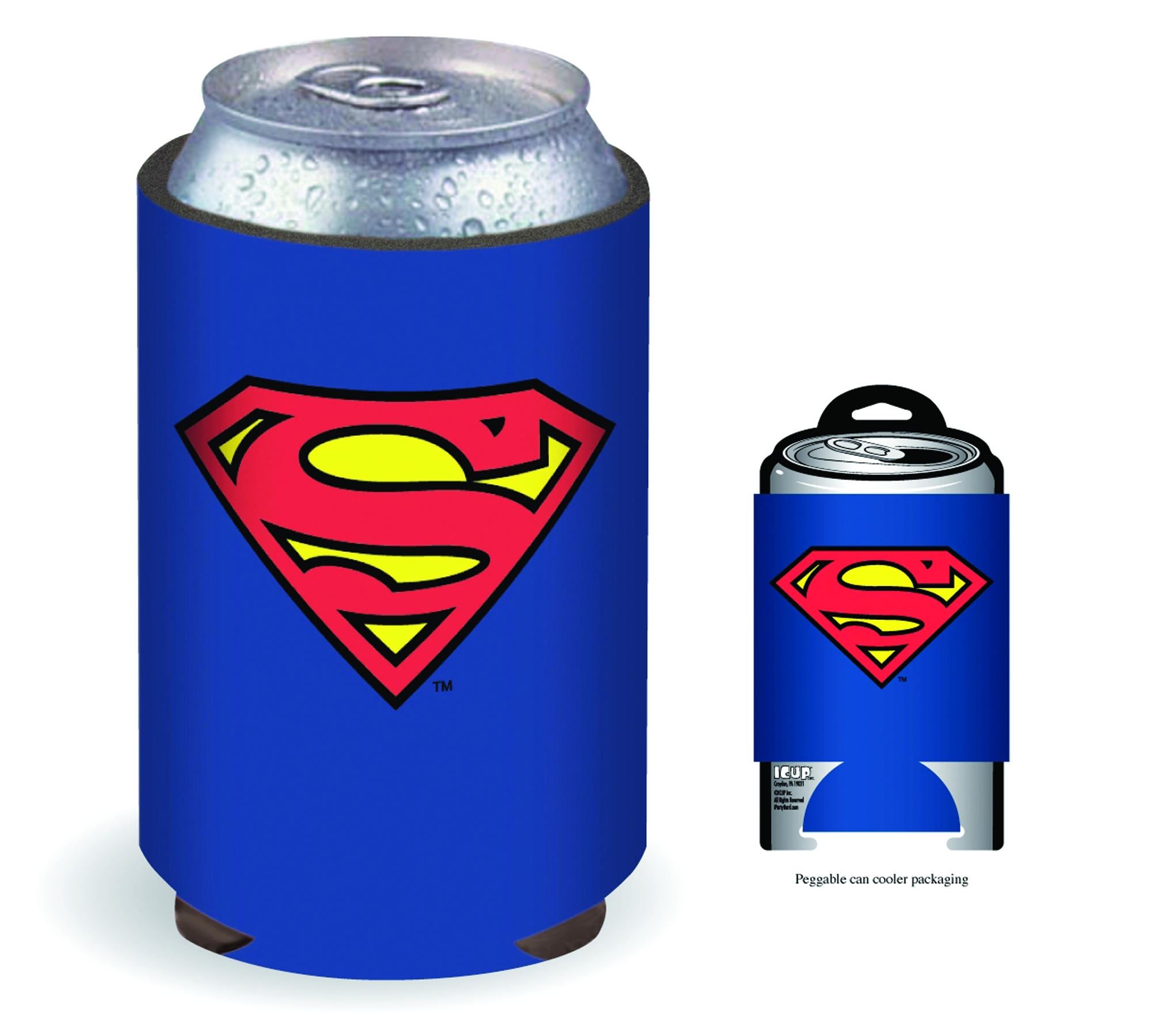 SUPERMAN INSIGNIA CAN COOLER
