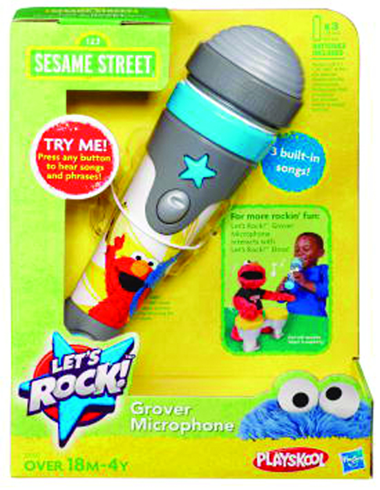 SESAME STREET LETS ROCK GROVER MICROPHONE