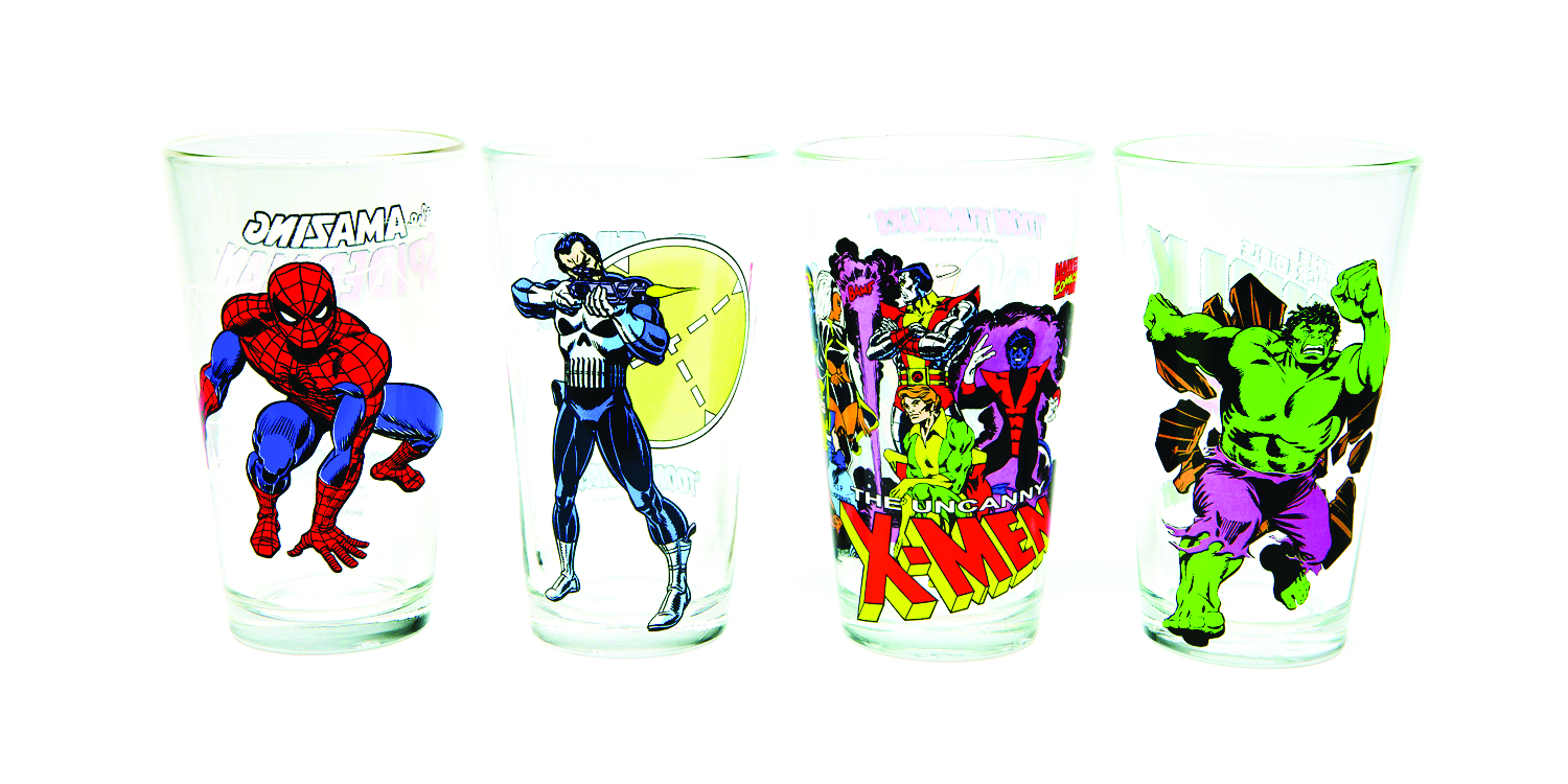 TOON TUMBLERS PUNISHER CLEAR PINT GLASS