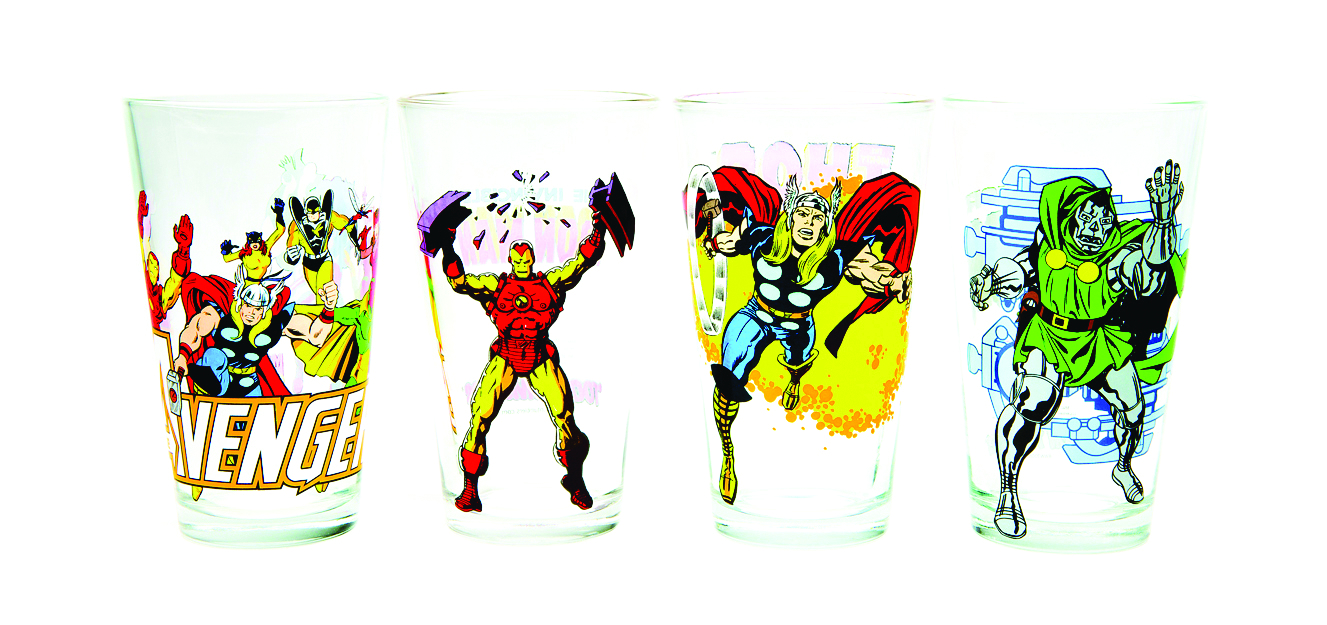 TOON TUMBLERS DOCTOR DOOM CLEAR PINT GLASS