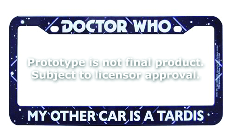 DOCTOR WHO OTHER CAR TARDIS LICENSE PLATE FRAME