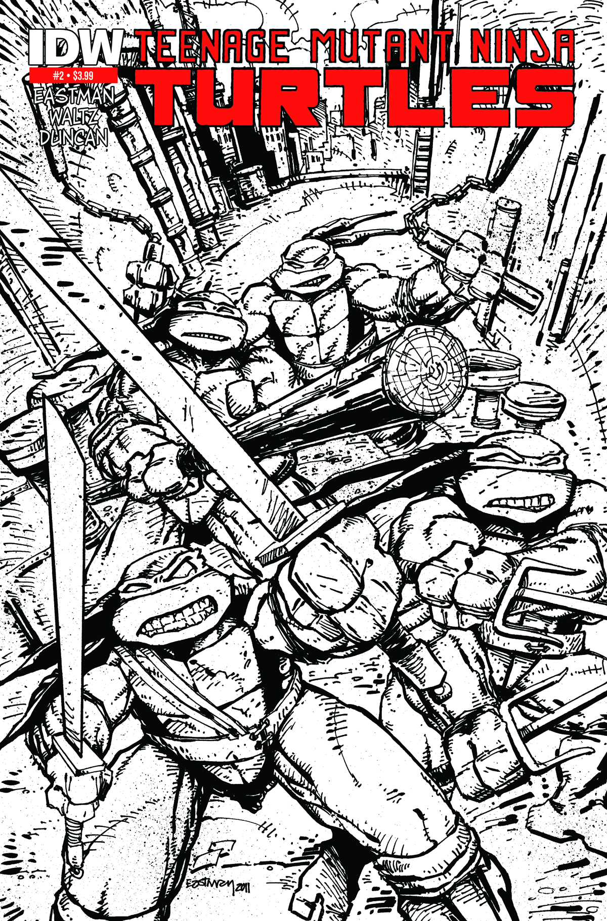 TMNT ONGOING #2 2ND PTG