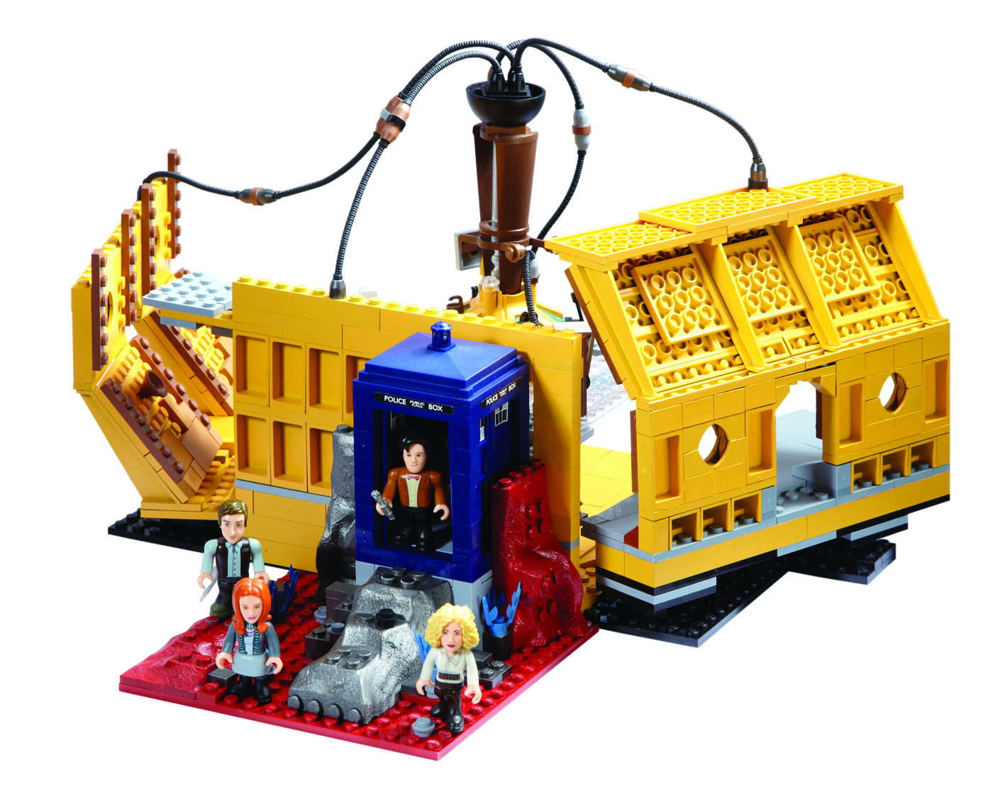 DOCTOR WHO CHAR BUILDING TARDIS CONSOLE ROOM SET