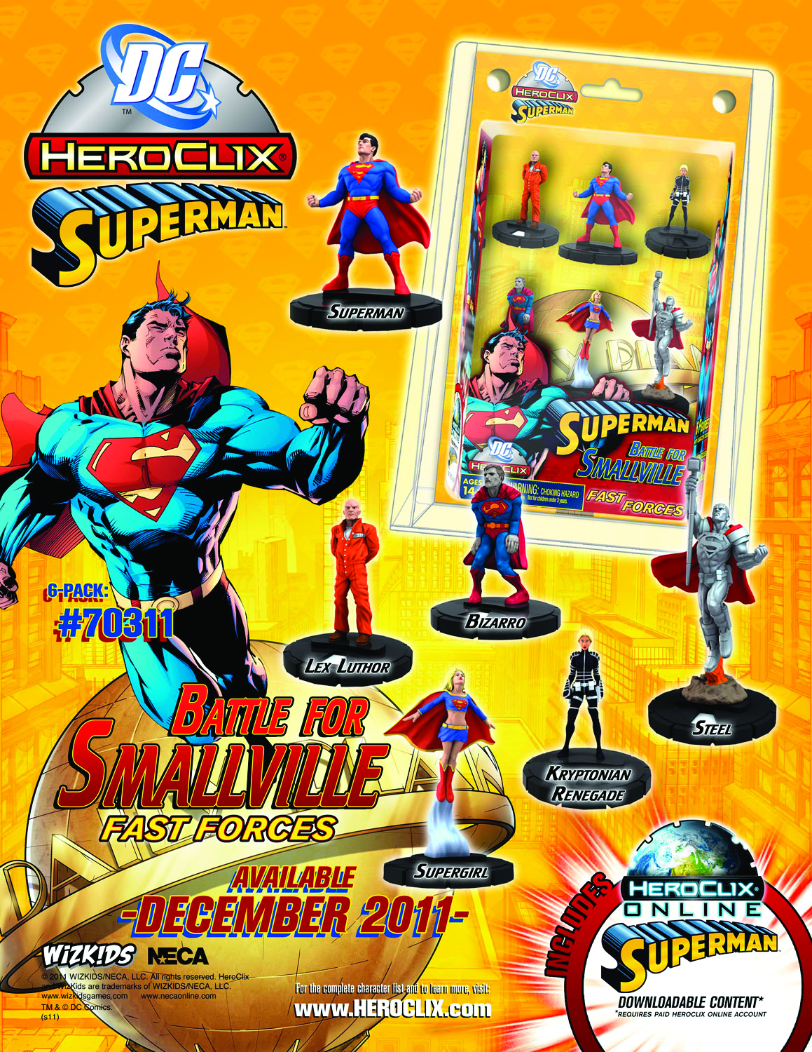 DC HEROCLIX SUPERMAN BATTLE SMALLVILLE FAST FORCES