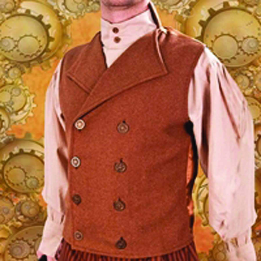 STEAMPUNK ENGINEER VEST MED