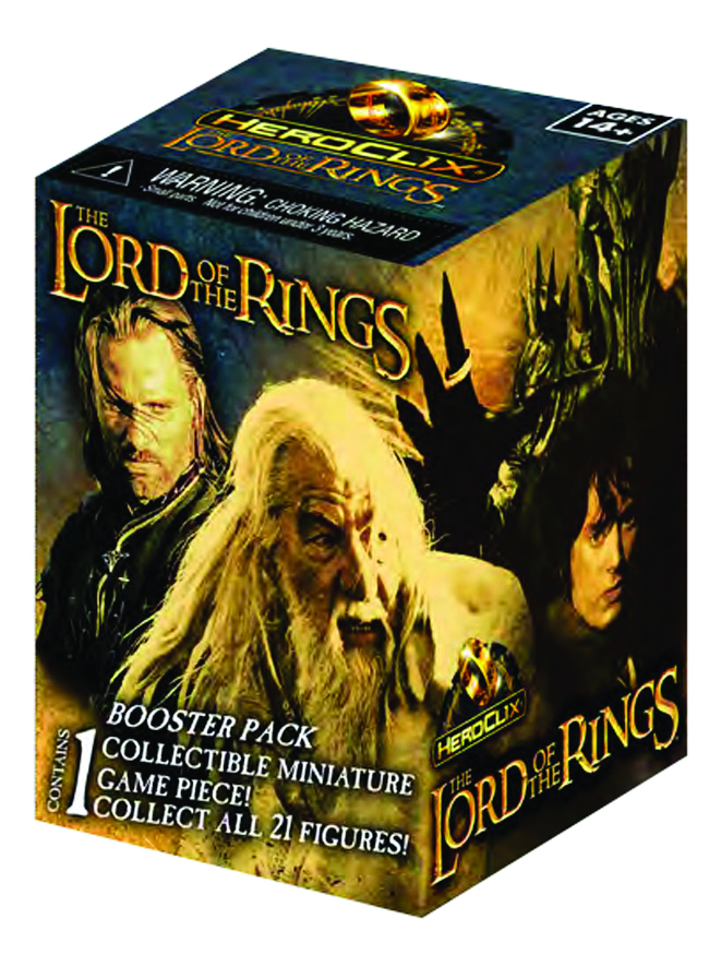 LORD OF THE RINGS HEROCLIX 24 FIG GRAVITY FEED DS