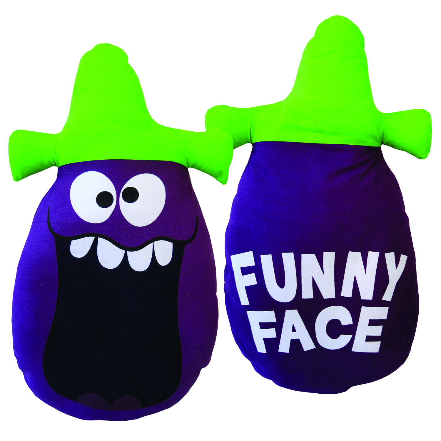 GOOFY GRAPE FUNNY FACE PILLOW DOLL