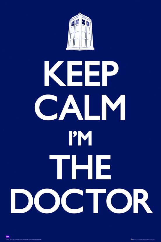 DOCTOR WHO KEEP CALM 24X36 POSTER