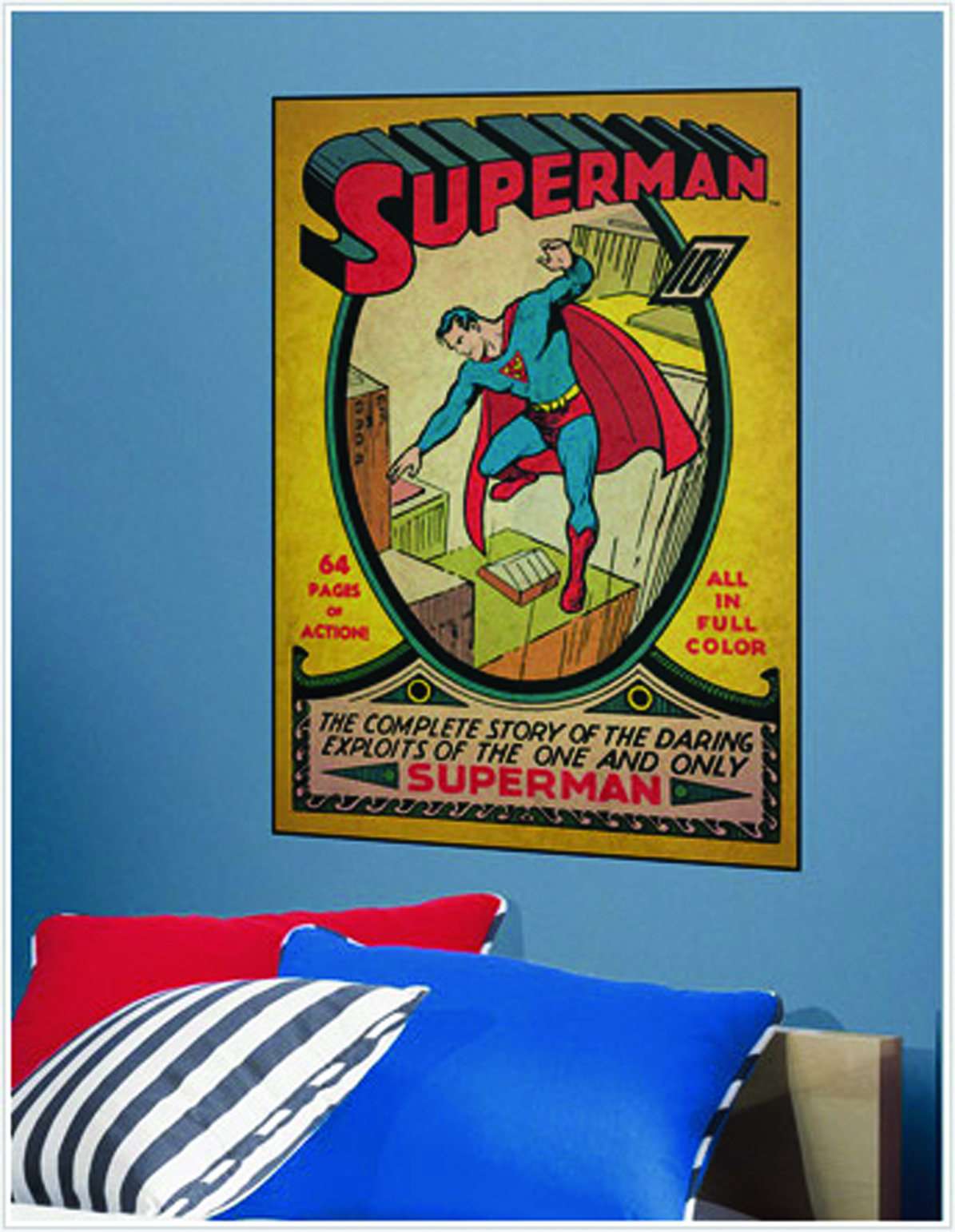 SUPERMAN #1 COMIC COVER GIANT WALL DECAL