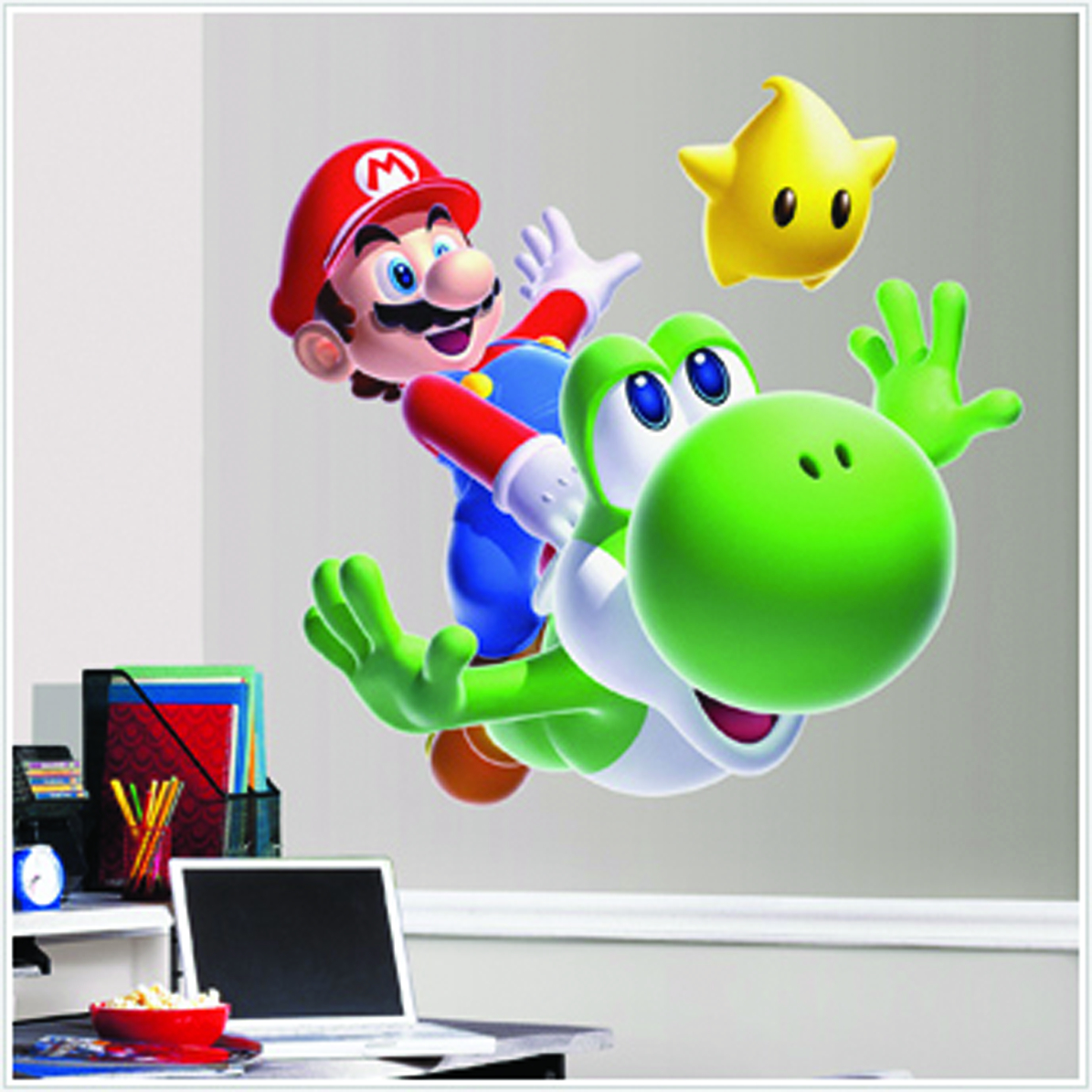 SUPER MARIO BROS. MARIO YOSHI GIANT WALL DECAL