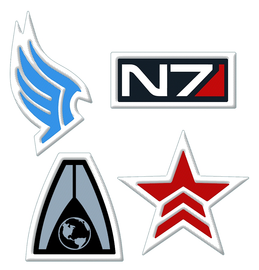 MASS EFFECT RENEGADE EMBROIDERED PATCH