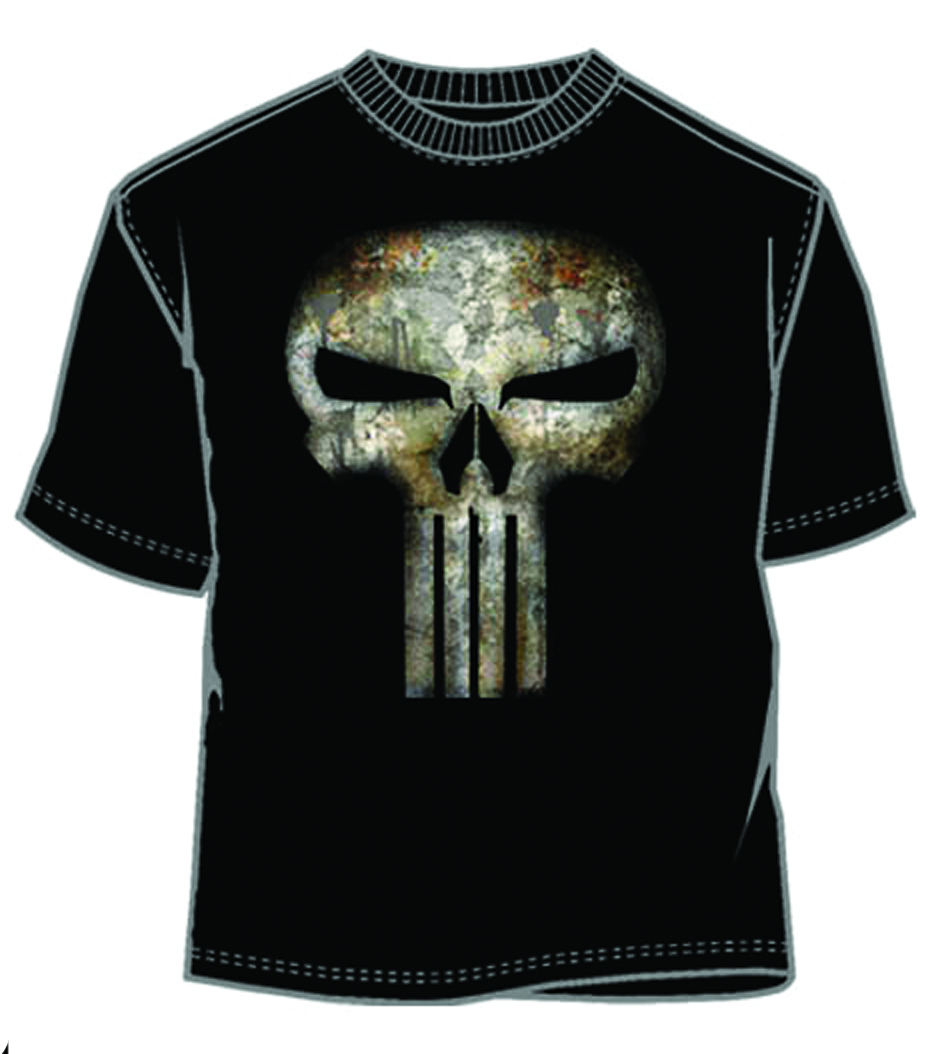 PUNISHER NO SWEAT BLK T/S LG