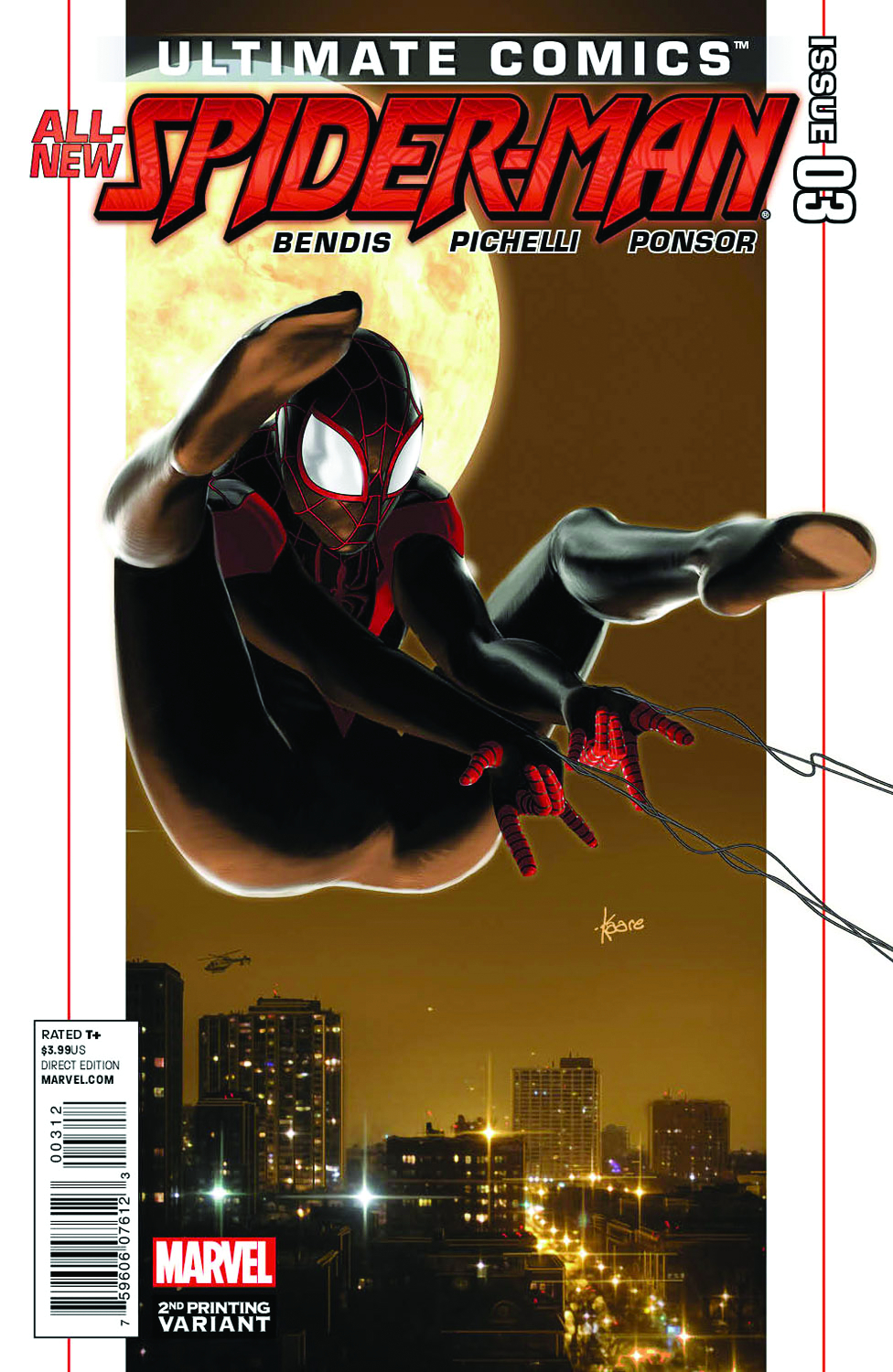 ULTIMATE COMICS SPIDER-MAN #3 2ND PTG ANDREWS VAR