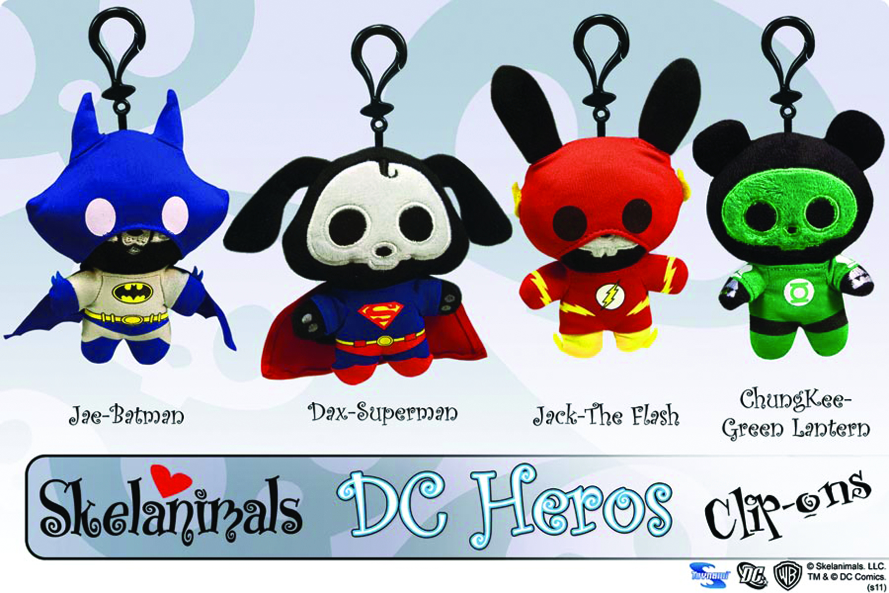 SKELANIMALS SUPERMAN DAX CLIP-ON PLUSH