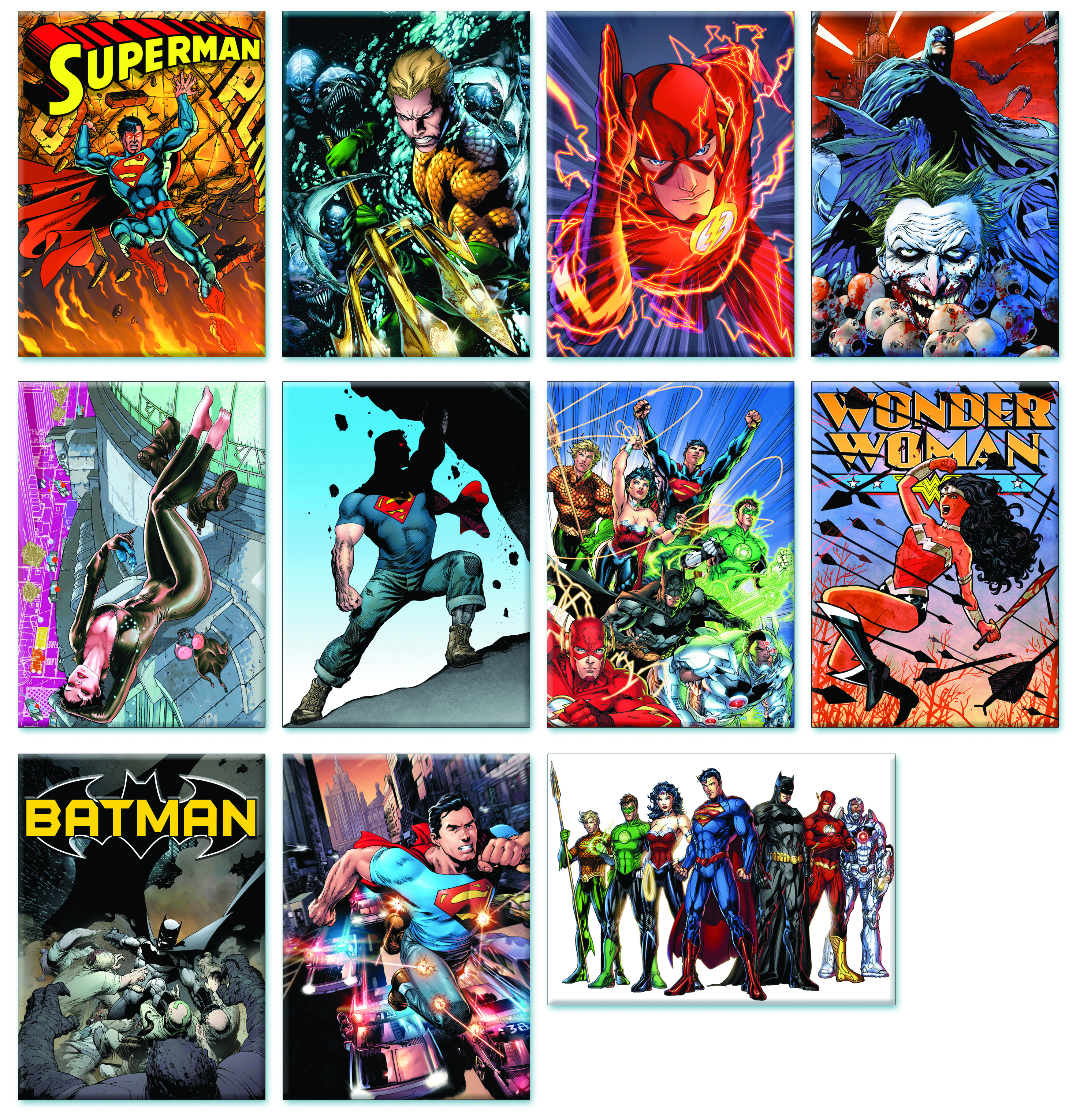 DC COMICS NEW 52 11PC MAGNET SET