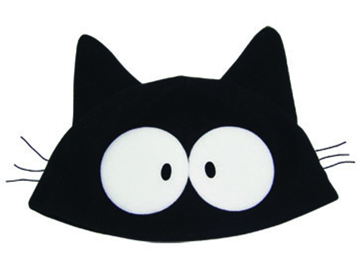 FLCL TAKKUN BLACK CAT FLEECE CAP