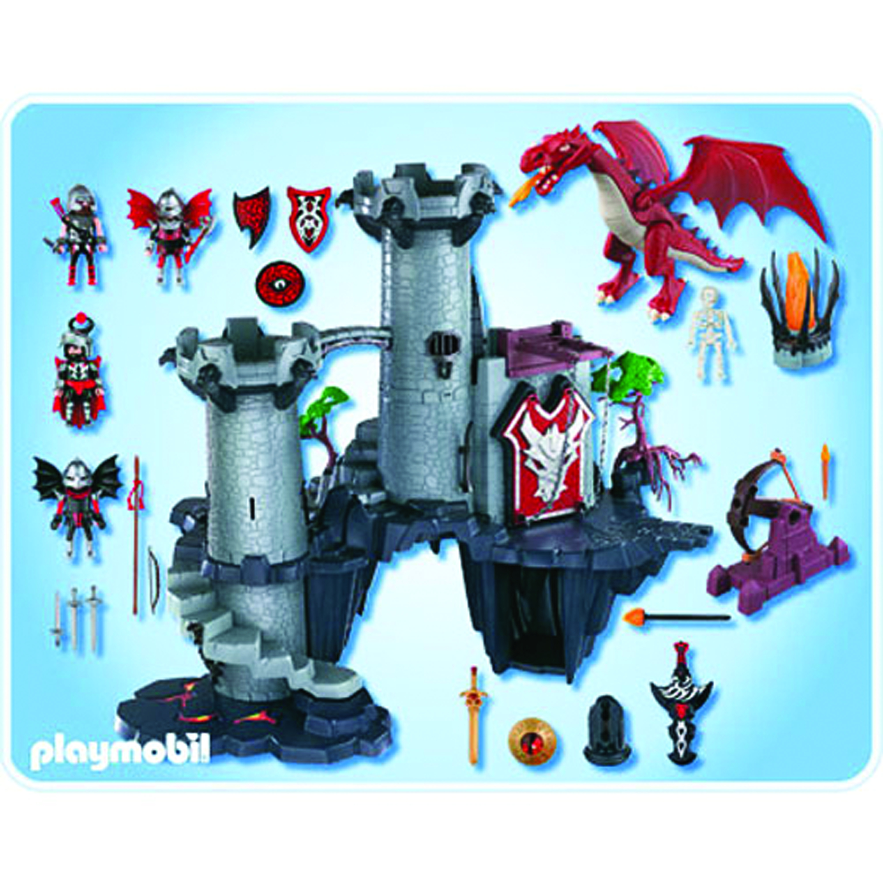 dec111715 playmobil dragons land great dragon castle. Black Bedroom Furniture Sets. Home Design Ideas