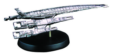 MASS EFFECT ALLIANCE NORMANDY SR2 REPLICA SHIP ANTIQUE SLVR