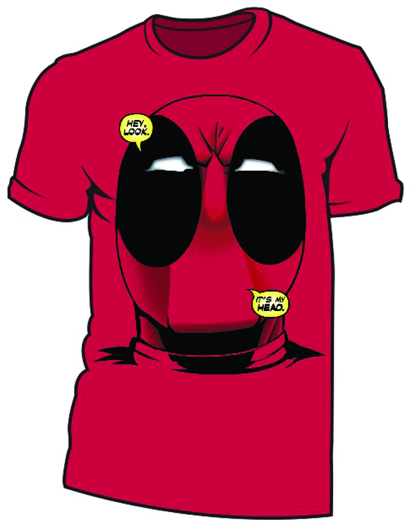DEADPOOL BIG HEAD DEADPOOL RED T/S MED