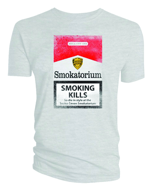JUDGE DREDD SMOKATORIUM WHITE T/S LG