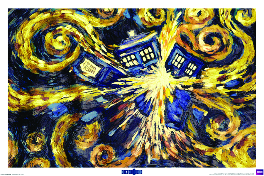 DOCTOR WHO EXPLODING TARDIS 24X36 ROLLED POSTER