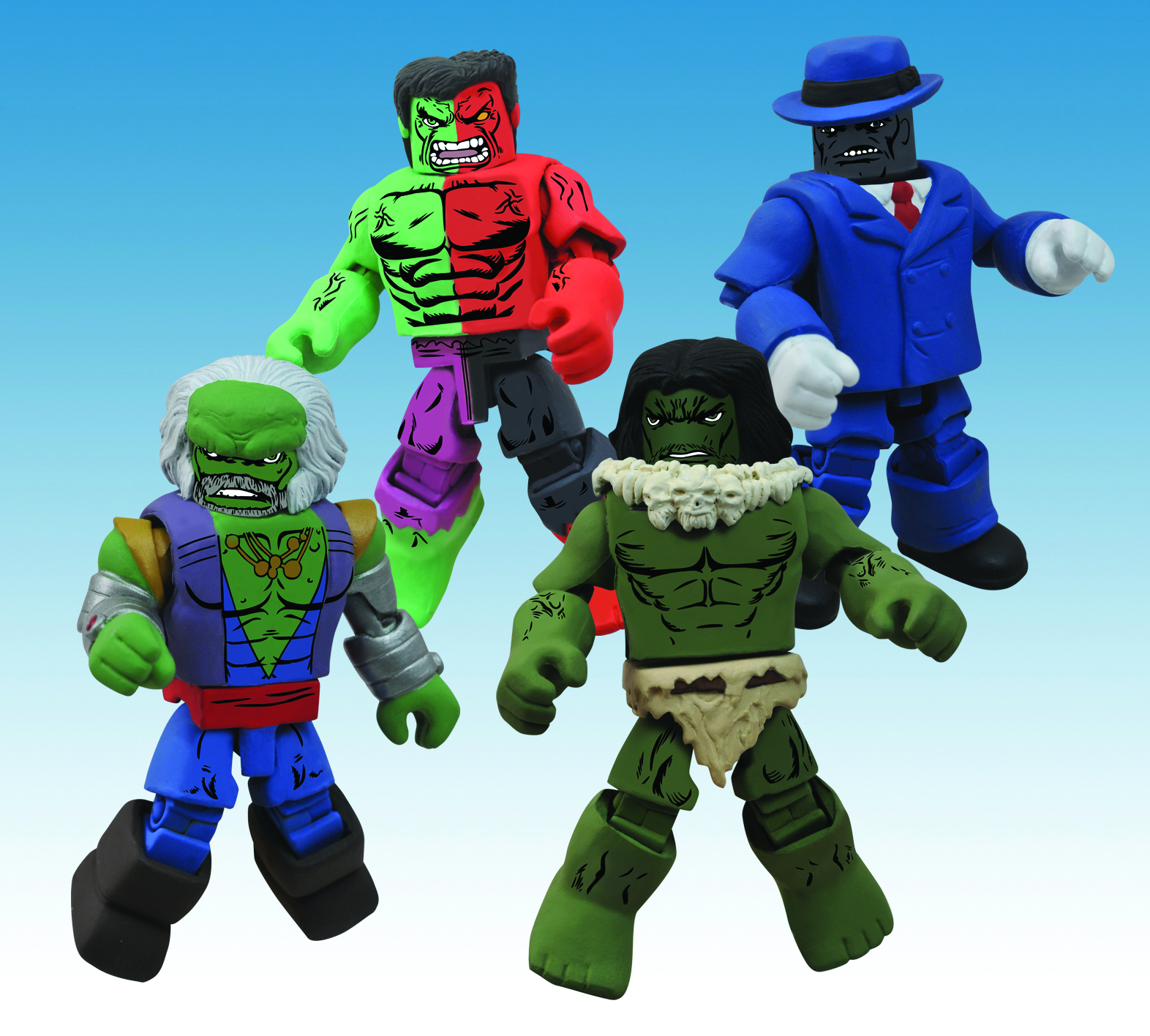 MARVEL MINIMATES HULK THROUGH THE AGES BOX SET