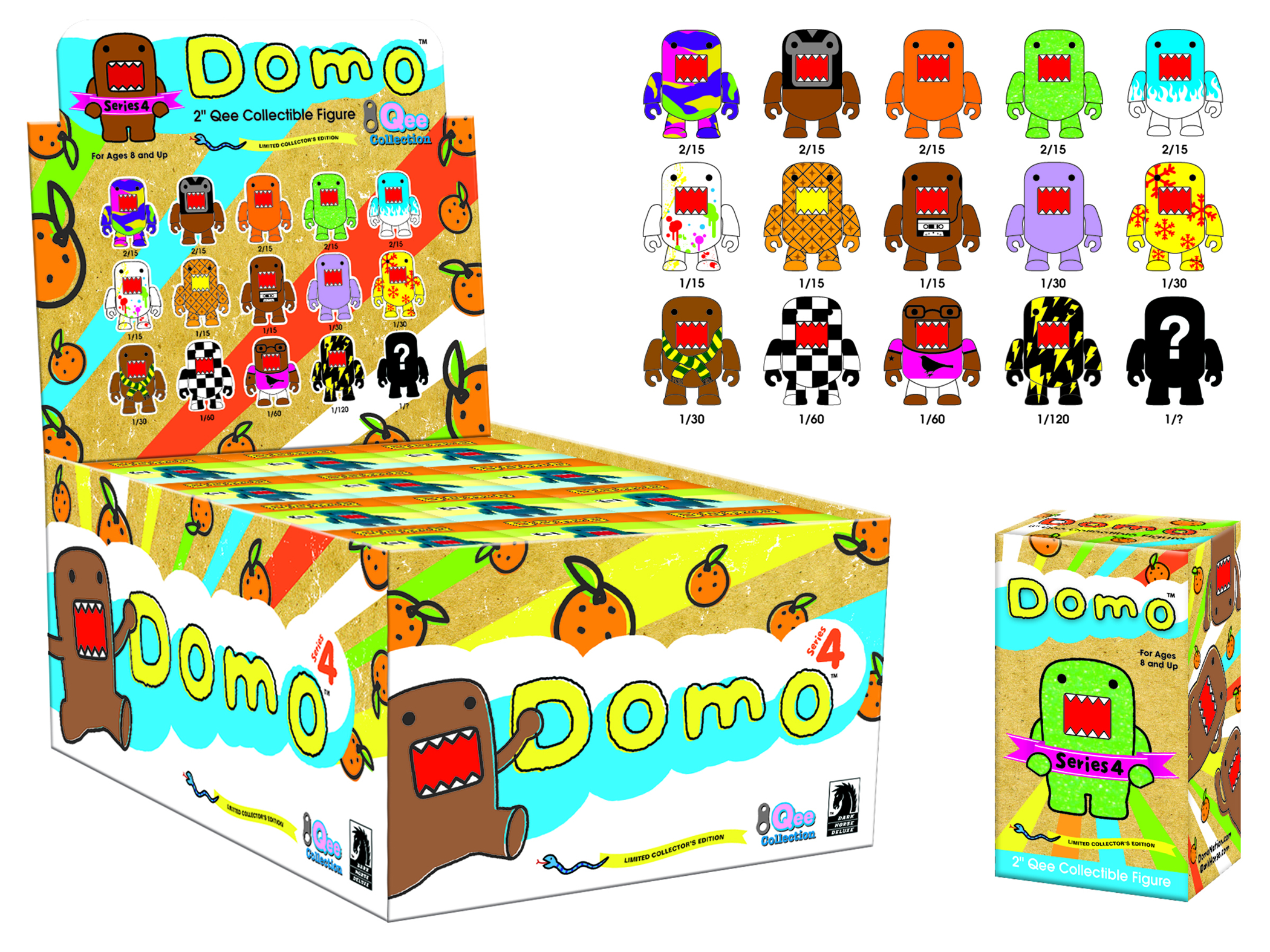 DOMO QEE SERIES 4 MYSTERY DISPLAY CASE