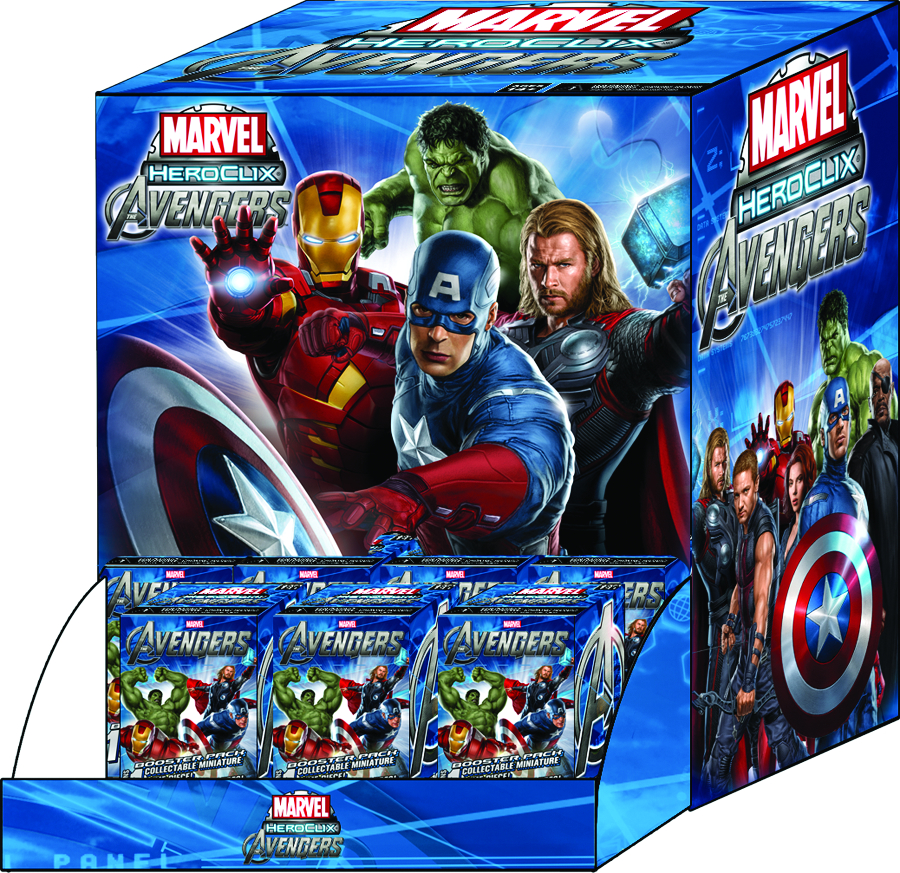 MARVEL HEROCLIX AVENGERS MOVIE 36 FIG BOOSTER DS