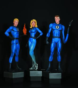FANTASTIC FOUR STATUE 3-PACK