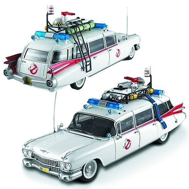 HW ELITE GHOSTBUSTERS 1/18 ECTO-1A DIE-CAST