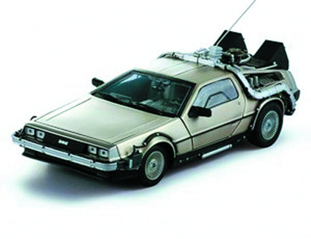 HW CULT CLASSICS BTTF 1/43 TIME MACHINE DIE-CAST